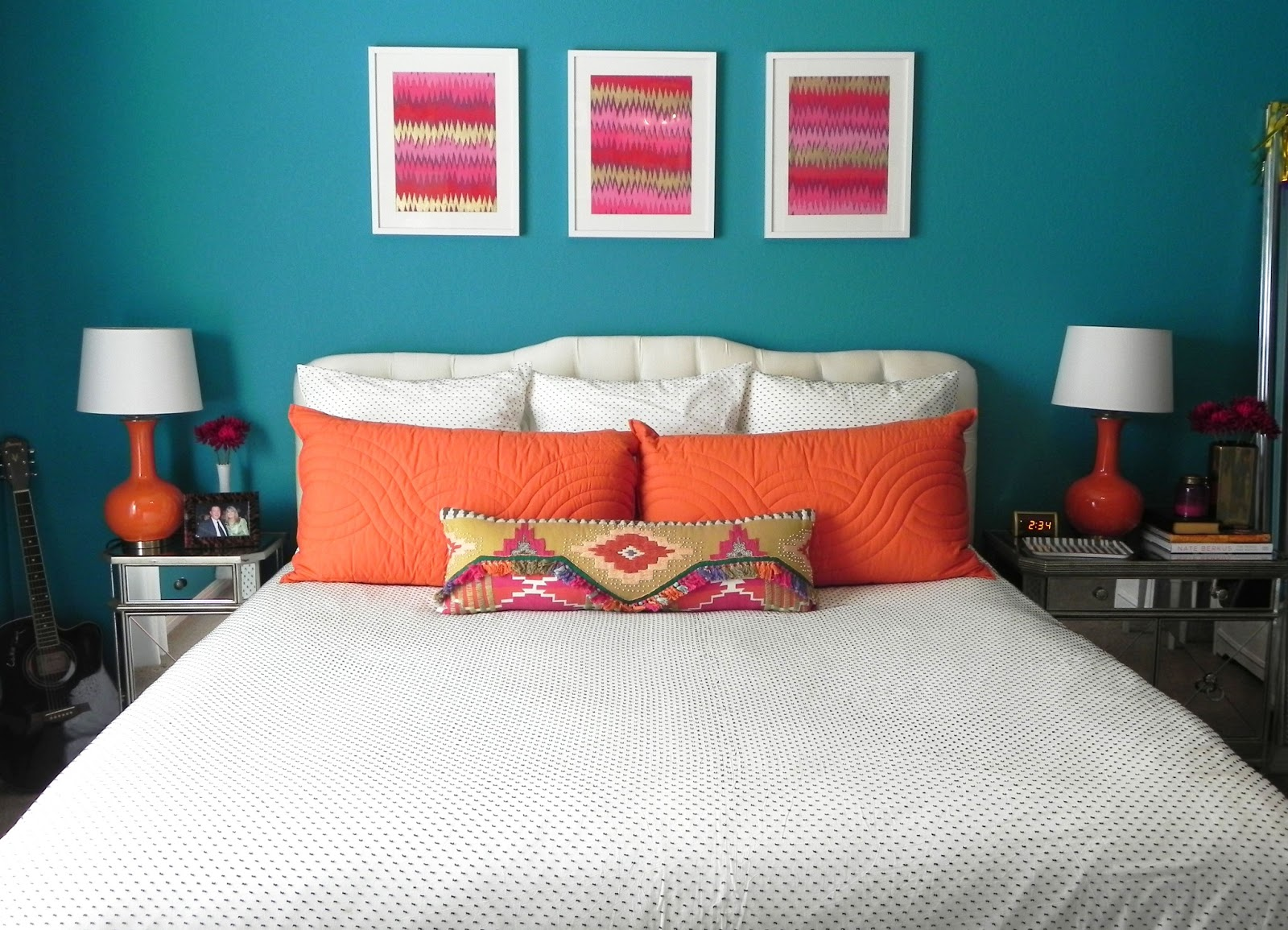 Burnt Orange Wall Paint Dining Room Contemporary With Aqua: Spray Paint & Chardonnay