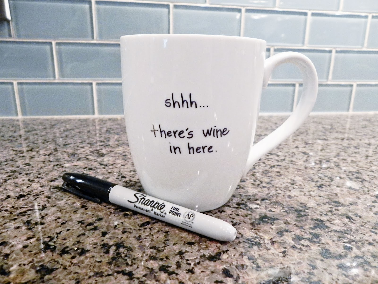 Diy Coffee Mug Spray Paint Chardonnay