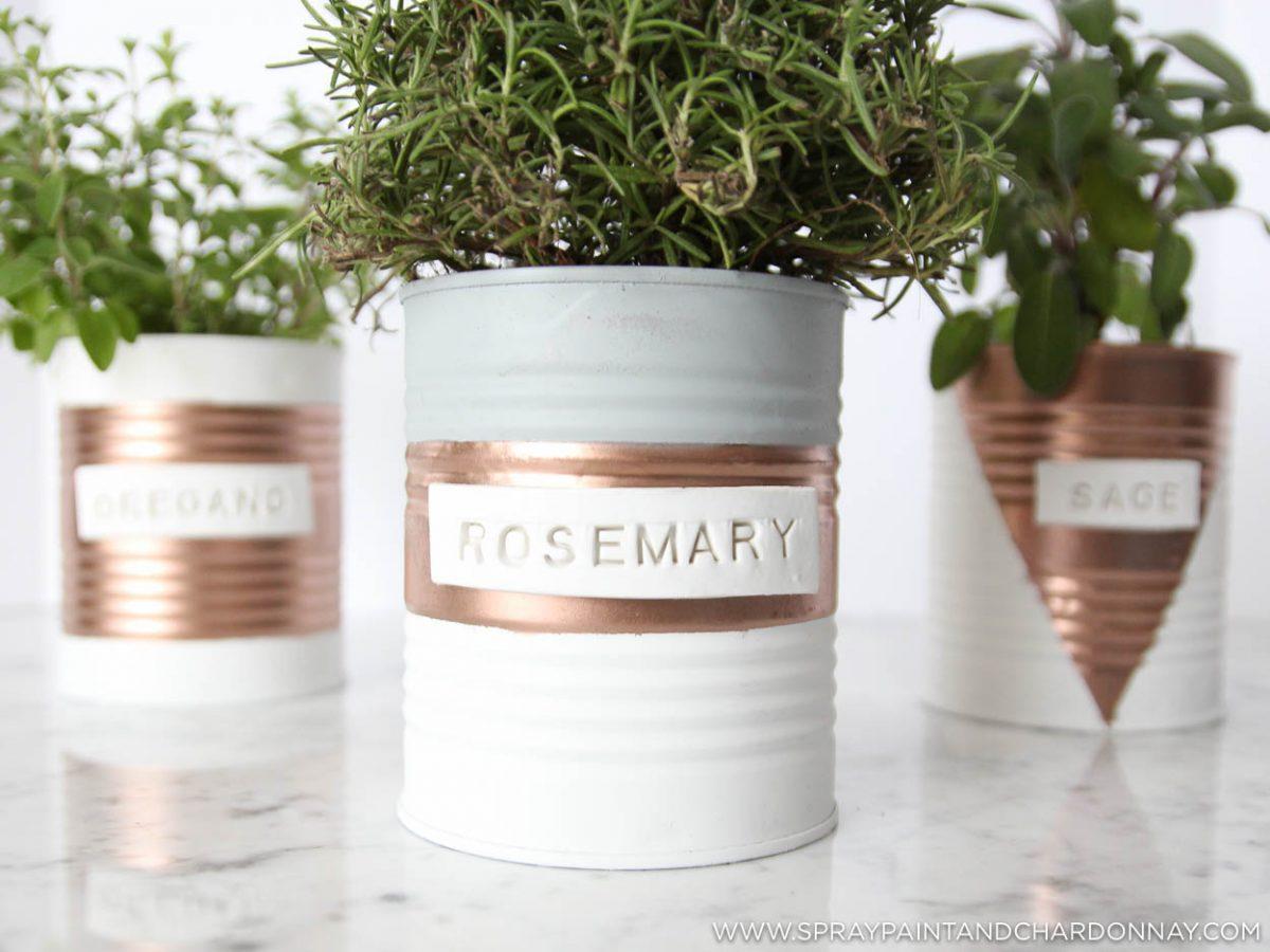 Diy Indoor Herb Garden Spray Paint Chardonnay
