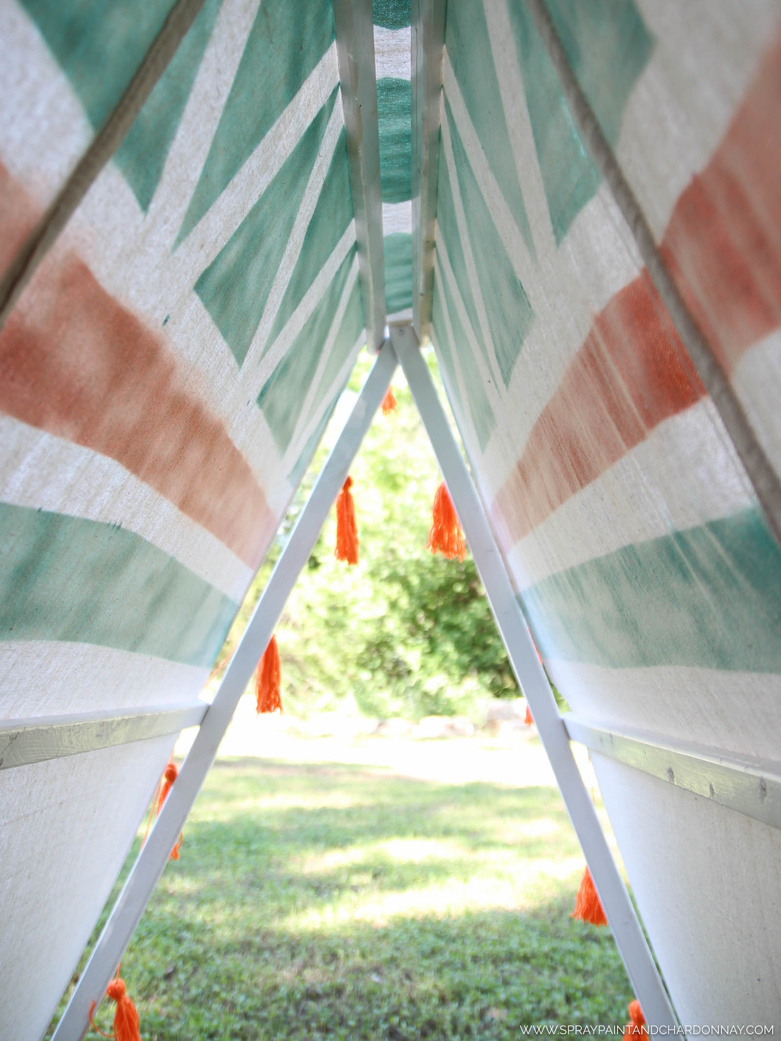 A tailor (or Taylor ha!) made tent that will hopefully bring lots of joy to one very joyful little girl! & DIY: A-Frame Tent | Spray Paint u0026 Chardonnay
