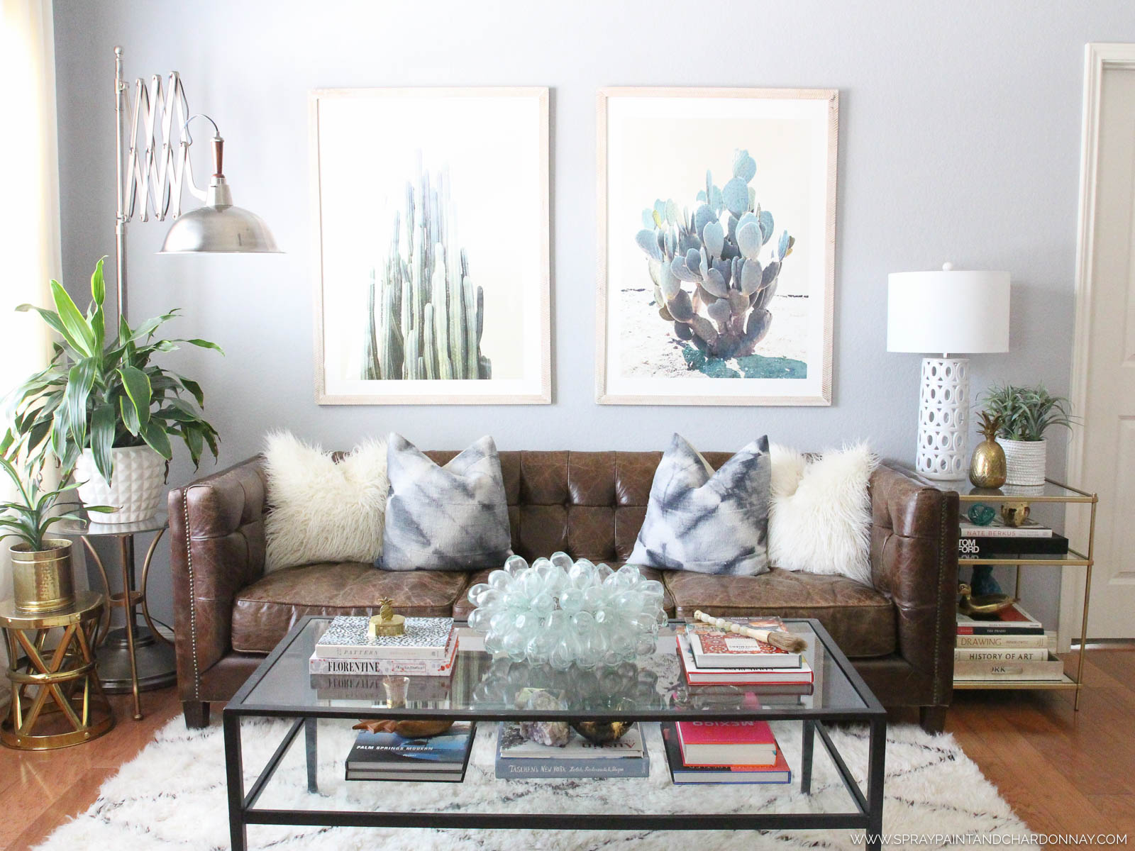 Living Room Transformation with Minted | Spray Paint & Chardonnay