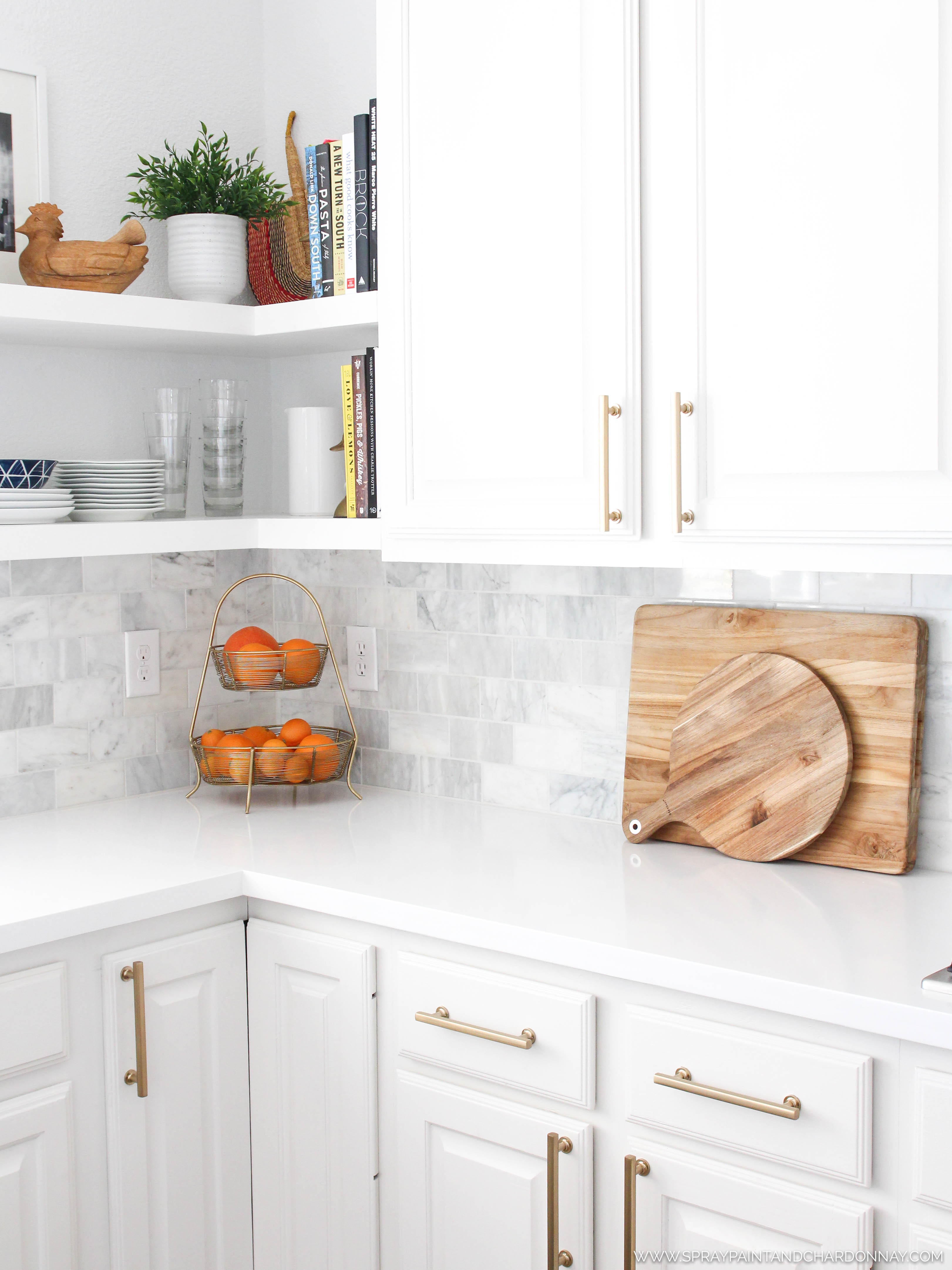 BEFORE & AFTER: KITCHEN | Spray Paint & Chardonnay
