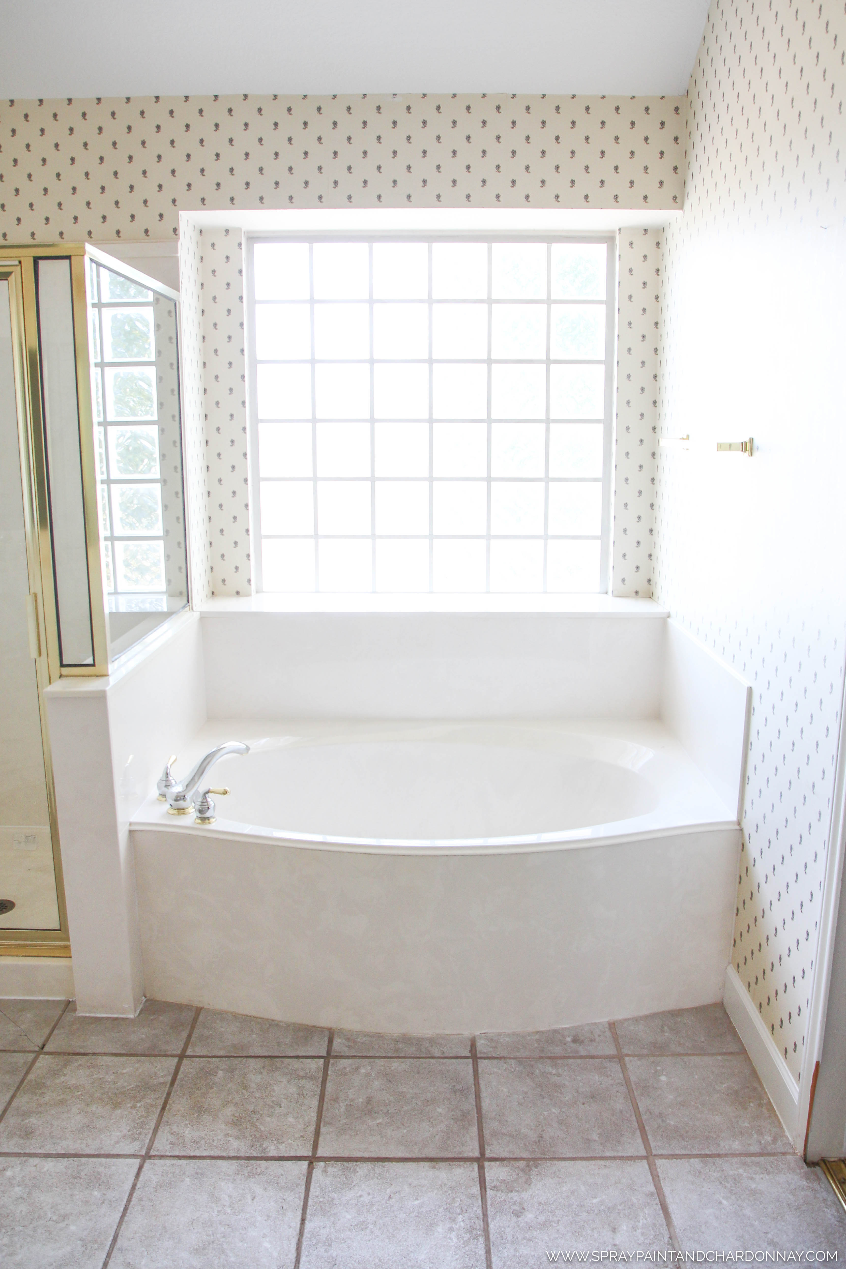 BEFORE & AFTER: MASTER BATHROOM | Spray Paint & Chardonnay