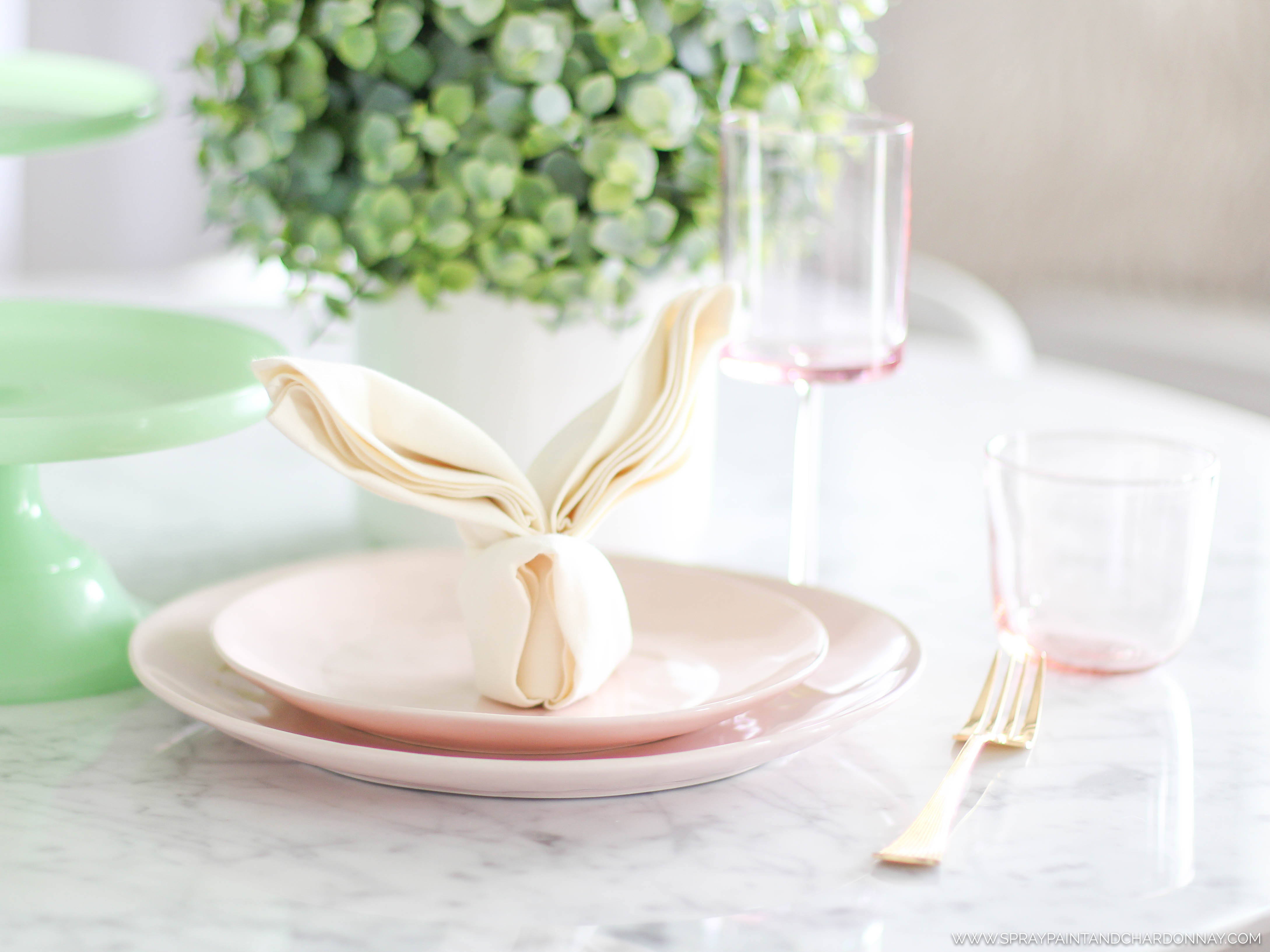 EASY EASTER ENTERTAINING | Spray Paint & Chardonnay